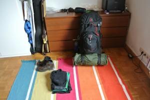 Der Fertiggepackte Rucksack