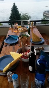 Wunderbares Abendessen am Lago Maggiore